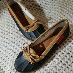 c170d76ae63 Chooka Duck Skimmer rubber Rain flats Shoes Women s Size 8