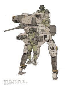 "ajtron: ""Metal Gear Roo""Concept art for Metal Gear Online."