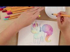 Wie malt man ein Einhorn? (STABILO Tutorials, mittel) - YouTube