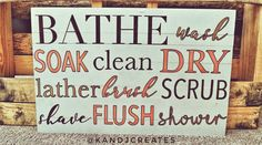 K & J Creates Farmhouse Bathroom Sign Decor