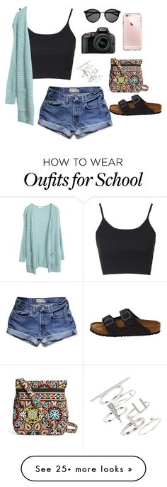 """I can't wait for the long summer days and NO SCHOOL"" by hopebarcus on Polyvore featuring Topshop, Abercrombie & Fitch, Yves Saint Laurent, Vera Bradley, Birkenstock and Nikon"