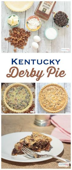 A trifecta of chocolate, pecans and bourbon, this Kentucky Derby Pie is the perfect dessert to serve at your Kentucky Derby party. Even if you're not into horse racing, you won't be able to resist a slice of this delicious dessert. (And it's amazingly easy to make!)  Serve it with an ice-cold refreshing mint julep and you'll feel like you've found your old Kentucky home.