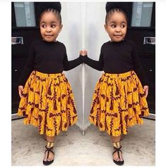 Modern Ankara Styles for kids 2018 That Will Blow Your Mind - Kids Fashion Baby African Clothes, African Dresses For Kids, African Children, African Women, African Fashion Ankara, Latest African Fashion Dresses, African Print Fashion, Africa Fashion, African Prints