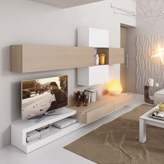 Modern and stylish 2 door cabinet choice of matt, wood veneer or gloss finish Rugs In Living Room, Interior Design Living Room, Living Room Furniture, Living Room Decor, Tv Unit Furniture, Furniture Design, Living Room Tv Unit Designs, Modern Tv Wall Units, Muebles Living