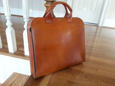 "Portfolio Brief Case - Messenger Bag Genuine Leather Handmade  ""The Honey Bear"""