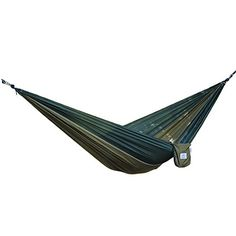 OuterEQ Portable Nylon Fabric Travel Camping Hammock Army/Olive - check it out at... http://backpackingandcampingessentials.com/camping-equipment/outereq-portable-nylon-fabric-travel-camping-hammock-armyolive/