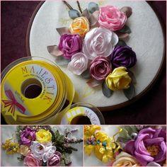 Kurdele nakışı kasnak işi örnekleri . Kurdeleden Çiçek Modelleri. Kurdele Nakışı Çiçek Örnekleri. En Güzel Kasnak İşi Örnekleri.