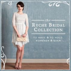 To Have & To Hold: Ruche #Bridal
