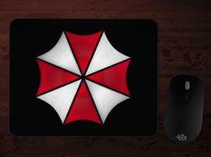 Umbrella Corporation Emblem Mousepad by DomesticPlatypus on Etsy