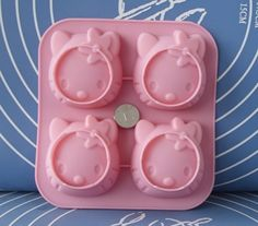 4Hello Kitty Flexible Silicone Mold/Mould For Handmade by HappyDIY, $4.99