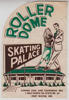 vintage roller skating label