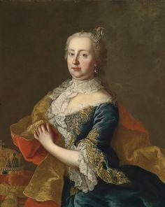 L'impératrice Marie-Thérèse (XVIIIème siècle, collection privée) de Martin van Meytens le jeune (1695-1770)