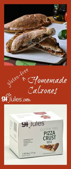 gluten free calzones from gfJules pizza mix pin - gfJules