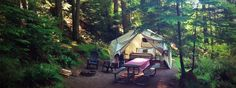 Wanderlust Camp in the San Juan Islands in Washington State offers the ultimate in 'glamping' with hiking, biking, and sea kayaking adventures within easy reach.