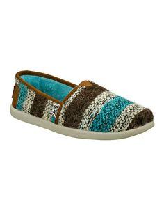 Blue  Brown World Happy Happy Slip-On Shoe