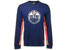 Edmonton Oilers GIII NBA Men's Hands High Hail Mary Long Sleeve Top