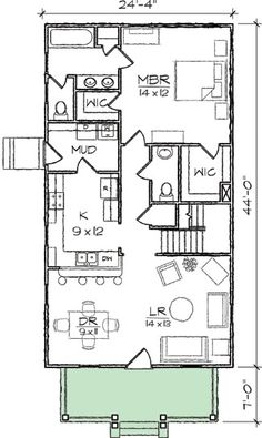 Arts & Crafts Narrow Lot House Plan - 10032TT   1st Floor Master Suite, CAD Available, Cottage, Country, Narrow Lot, PDF, Photo Gallery   Architectural Designs