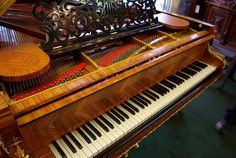 Beautiful gold mounted Bechstein Grande piano with satinwood inlay - just exquisite!