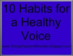 10 Habits for a Healthy Voice, Voice lessons, Singing, Singing Tips, Singing Lessons, Singing Quotes, Vocal Lessons, Music Lessons, Piano Lessons, Voice Acting, The Voice, Singing Techniques