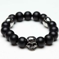 Skull beaded bracelet - love this, saw the of monsters and men singer wearing something similar last week