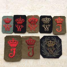 Dutch sleevebadges for 6 years Loyal service nco Queen  Wilhelmina and Juliana