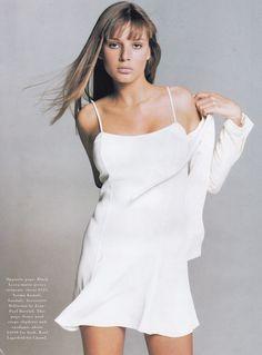 US Bazaar May 1994 Suits Ph: Patrick Demarchelier Model: Bridget Hall Hair: Thom Priano Makeup: Laura Mercier
