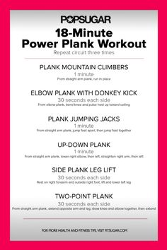 Plank Circuit Workout Poster