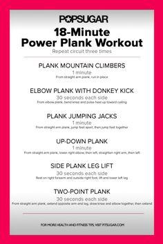 Plank Circuit Workout