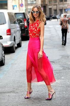 rojo y rosa look 1 #moda #fashion #cuero #leather #zapatos #shoes #bolsos #bags #marroquineria #leathergoods #estilo #style #lifestyle