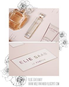 I'm giving away this lovely Elie Saab gift set. It contains 2 bottles of perfume (one is a handy handbag-size) and a moisturizer, in a. Elie Saab, Giveaways, About Me Blog, Perfume, Romantic, My Love, My Style, Wolf, Editorial
