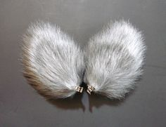 Your place to buy and sell all things handmade Halloween Cosplay, Halloween Costumes, Wolf Ears, Animal Ears, Holidays Halloween, Cat Ears, Hair Clips, Fur, Grey