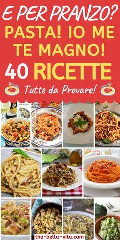 Pasta!! 40 Deliziose Ricette Tutte Da Provare! - The Bella Vita Spaghetti Salad, Pasta Salad, Ravioli, Cooking For Dummies, Pasta Casera, Italian Pasta Recipes, Gnocchi, My Favorite Food, Food And Drink