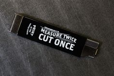 Image of Measure Twice / Box Cutter