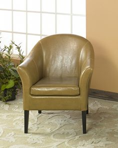 Armen Living LCMC001CLCA - 1404 Camel Leather Club Chair | Sale Price: $338.40