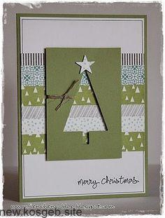 60 Ideas Diy Christmas Cards Ideas Link - Stampin Up Christmas Card Crafts, Homemade Christmas Cards, Christmas Cards To Make, Xmas Cards, Homemade Cards, Holiday Cards, Christmas Ideas, Christmas Christmas, Christmas Cookies