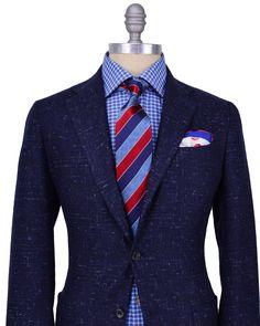 Stanley Korshak | Kiton | Blue Donegal Soft Jacket