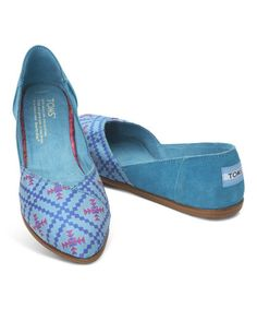 Take a look at this Algiers Blue Jutti Suede Flat on zulily today!