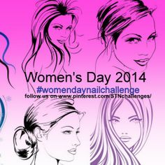#womendaynailart #women'sday Women's day 2014
