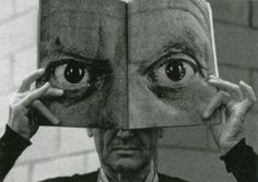 Architect Charles Eames with Picasso mask — photo by Saul Steinberg