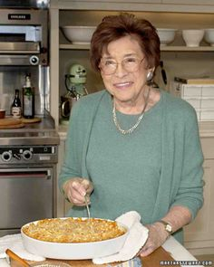 Martha Stewart was fond of her grandmother's unusual mac n' cheese, which included tomato soup and sour cream. In this version, Martha and her mom give it a more traditional spin. Click through for the recipe.
