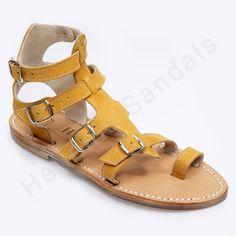H Αντιγόνη και σε κίτρινο χρώμα!! Ένα αναπαυτικό #καλοκαιρινό_παπούτσι για μοναδικές εμφανίσεις!!! http://www.hellenicsandals.gr/ginekia-sandalia #handmade #leather #ancient_greek #sandals