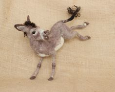 Liam the needle felted donkey by The Woolen Wagon on Etsy