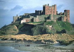 Bamburgh Castle on the north east coast of England