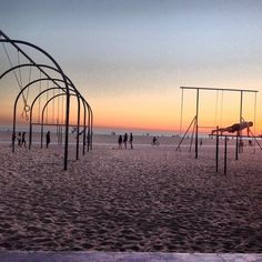 Rings with sunset at Venice Beach à Venice, CA