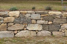 Fieldstone retaining wall, Martha's Vineyard, Island Stone