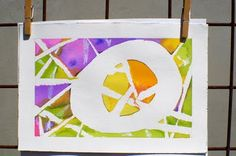 tape and watercolor- but that would mean I would have to find some money to buy watercolor paper! ha