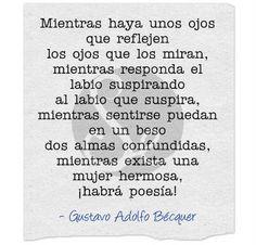 Habrá poesía! de Gustavo Adolfo Bécquer