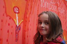 Soleil schildert een reuzenzwam.  Zou bij de pompoen het zelfde gebeuren als bij de koolraap van Gregor Dimitri Frank?