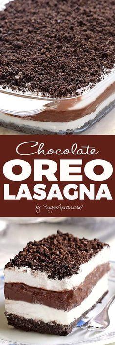 No Bake Chocolate Oreo Lasagna will make all Your Chocolate and Oreo dreams come true.