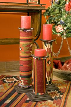 #BadAdduja's UpCycled Creations #Furniture #Decor #Home #UpCycling #UpCycled #CandleHolders